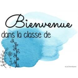affiche de classe - aquarelle bleue
