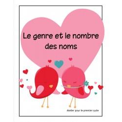Le genre et le nombre - jeu de la St-Valentin