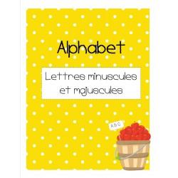 Alphabet - lettres minuscules et majuscules