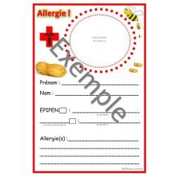 Affiches Allergies, Cardiaque, Épilepsie, asthme