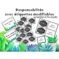 Responsabilités des élèves MODIFIABLES