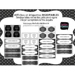 Affiches MODIFIABLES thématique noir et blanc