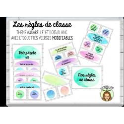 Règles de classe avec étiquettes MODIFIABLES