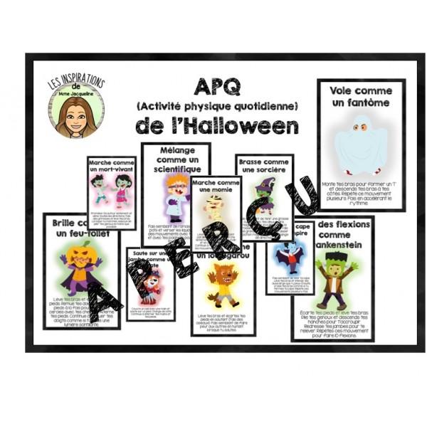 Cartes d'APQ thématique Halloween