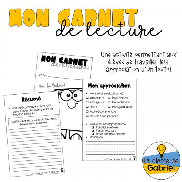 MON CARNET DE LECTURE
