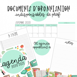 DOCUMENTS D'ORGANISATION - Indispensables de prof