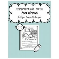 Compréhension écrite - Ma classe