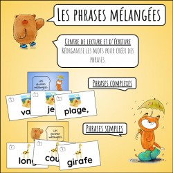 Les phrases mélangées / jeu de lecture