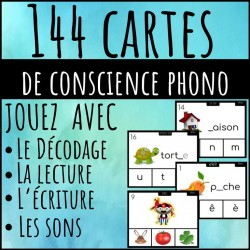 144 Cartes conscience phono-décodage-lecture-sons