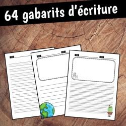 64 pages de gabarits d'écriture