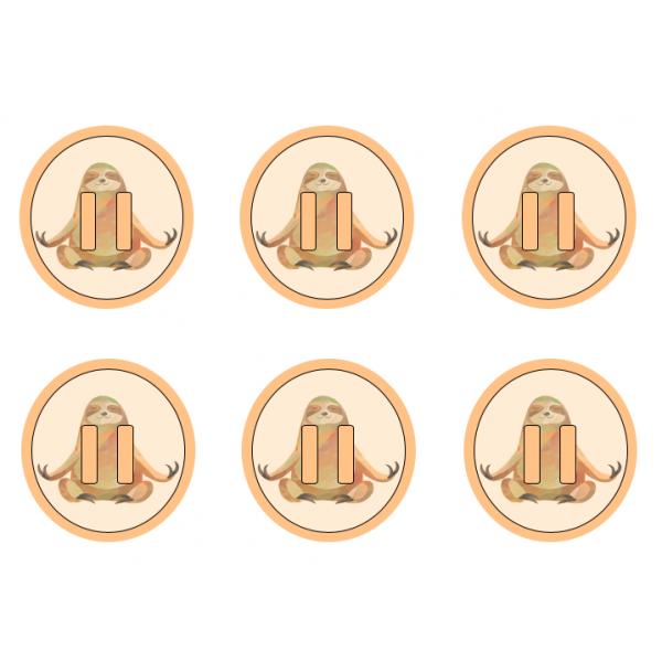 Pictogrammes de pause (paresseux, lama...)