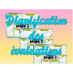 Planification des évaluations par étape