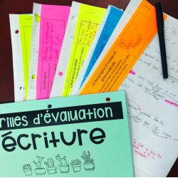 Critères d'évaluation en écriture au 2e cycle
