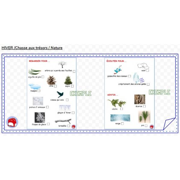 HIVER /  Chasse aux trésors / Nature