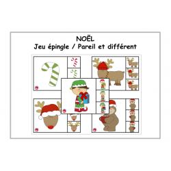 NOEL / Pareil et différent / Jeu épingle