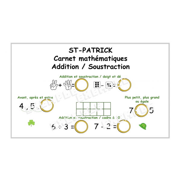 ST-PATRICK / Problèmes mathématiques  / 1-10