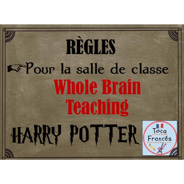 Règles pour la salle de classe HARRY POTTER