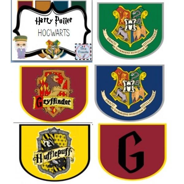 Harry Potter Hogwarts house banners!/ Banderoles