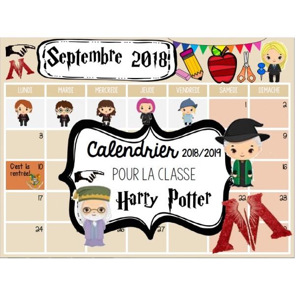 EDITABLE Calendar 18-19 HARRY POTTER/Calendrier