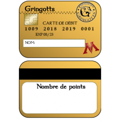 Cartes de débit Class Dojo HARRY POTTER