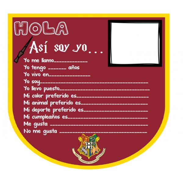 Banderas para presentarse de HARRY POTTER español