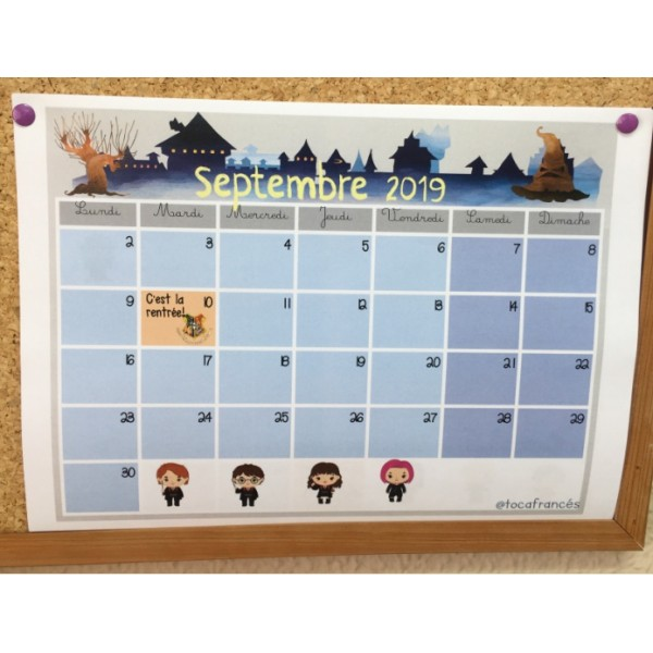 Calendar Harry Potter/Calendrier Harry Potter