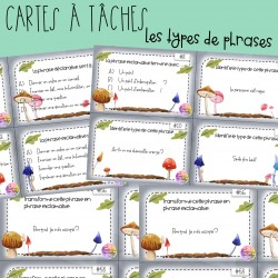 Cartes à tâches - Les types de phrases