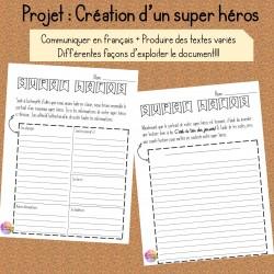 Création d'un super héros