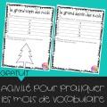 Activité pour pratiquer les mots de vocabulaire