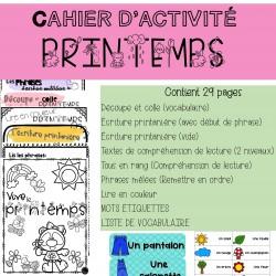 Cahier d'activité PRINTEMPS