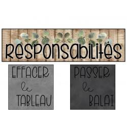 Tableau des responsabilités - rustique