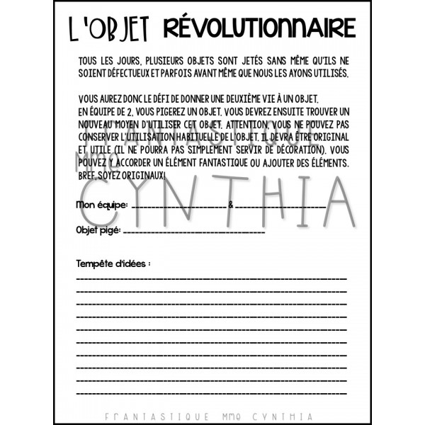 L'objet révolutionnaire
