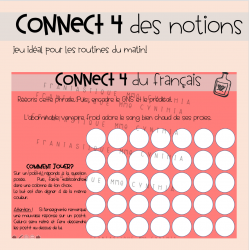 Connect 4 des notions
