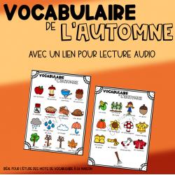 Mots de vocabulaire audio : l'automne