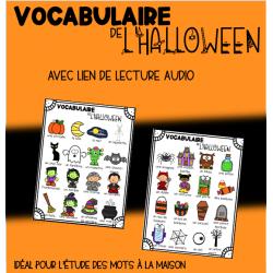Mots de vocabulaire audio : l'Halloween