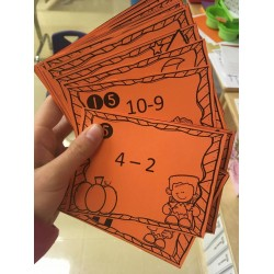 cartes à tâches addition et soustraction