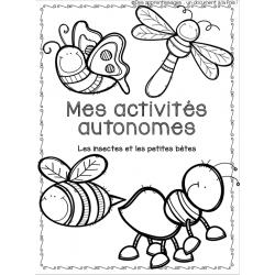 cahier d'activités autonomes les petites bêtes