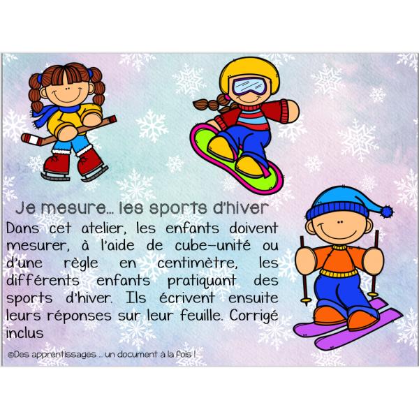 Je peux mesurer ... les sports d'hiver
