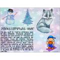 Atelier : point commun : L'hiver