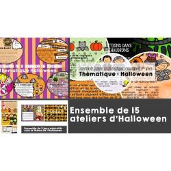 Ensemble de 15 ateliers d'Halloween