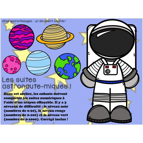 Atelier : des suites astronaute-miques !