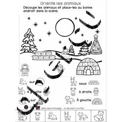 Activités oriente les animaux en hiver