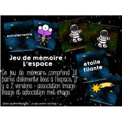 Atelier : jeu de mémoire dans l'espace