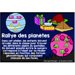 Atelier : rallye des planètes
