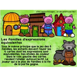 Atelier : les familles d'expressions équivalentes