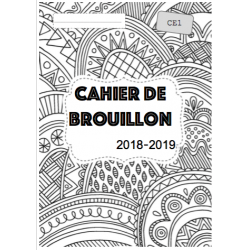 pages de garde à colorier 2018/2019
