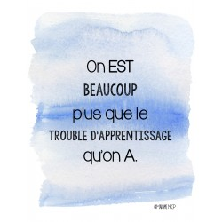 Affiche troubles d'apprentissages