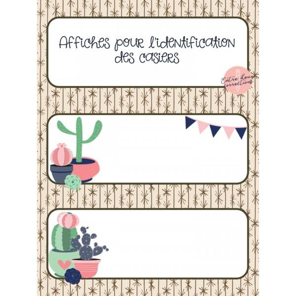 Affiches pour les casiers - Cactus