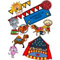Cliparts CréaKit animaux du cirque