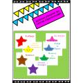 affiches domaines centres d'apprentissage